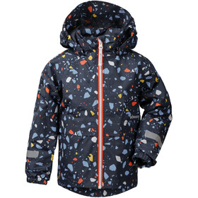 DIDRIKSONS Droppen Printed Jacket Kids navy terazzo